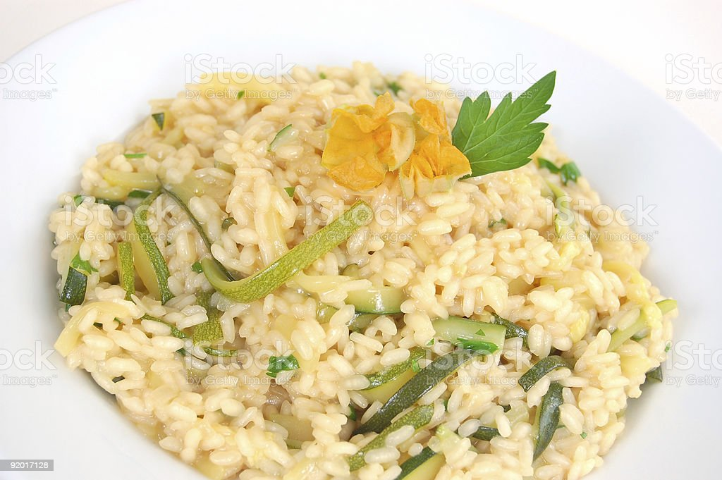 Zucchini Risotto royalty-free stock photo