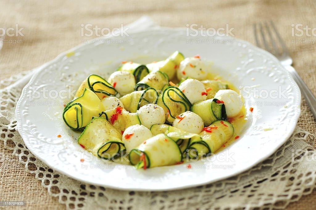 Zucchini Salad royalty-free stock photo