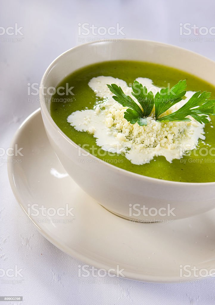 zucchini soup royalty-free stock photo