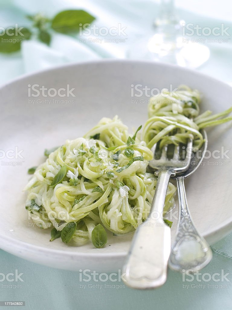 Zucchini Spaghetti stock photo