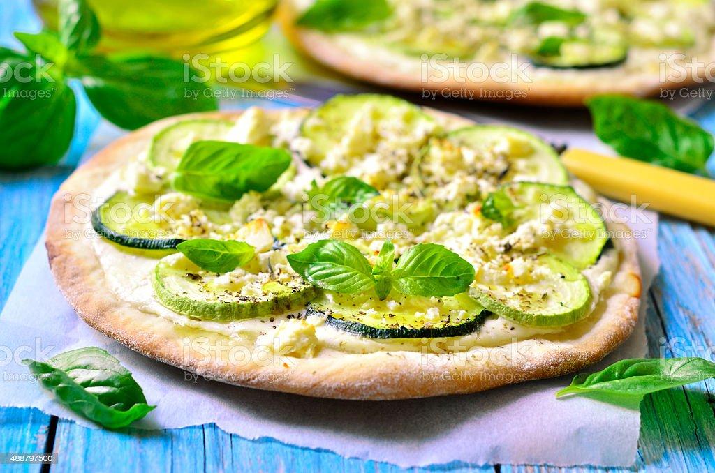 Zucchini tart. stock photo