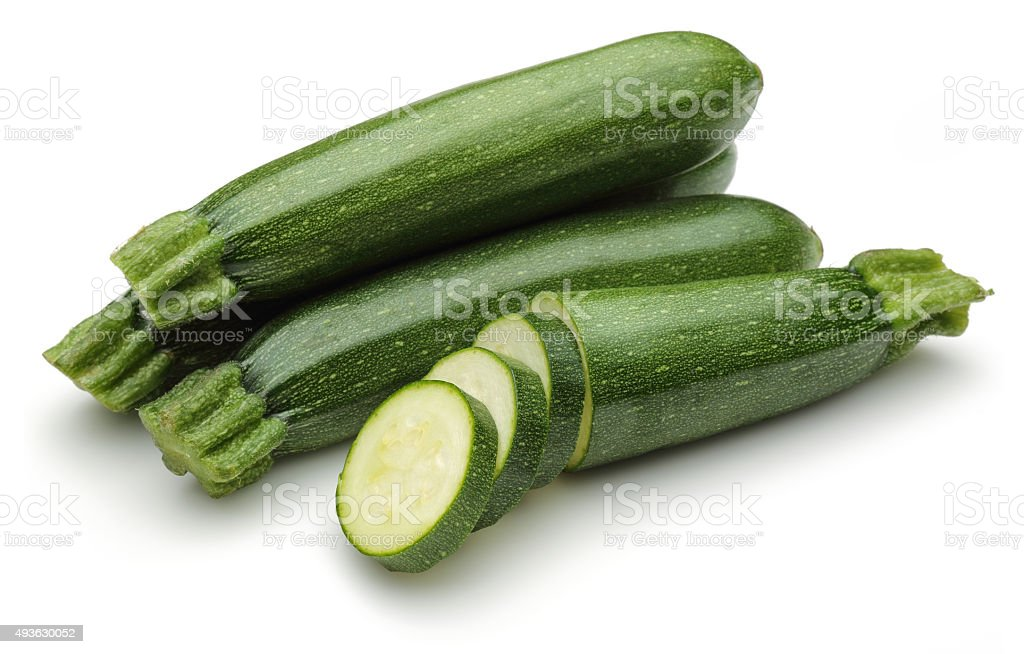 Zucchini with slices stock photo