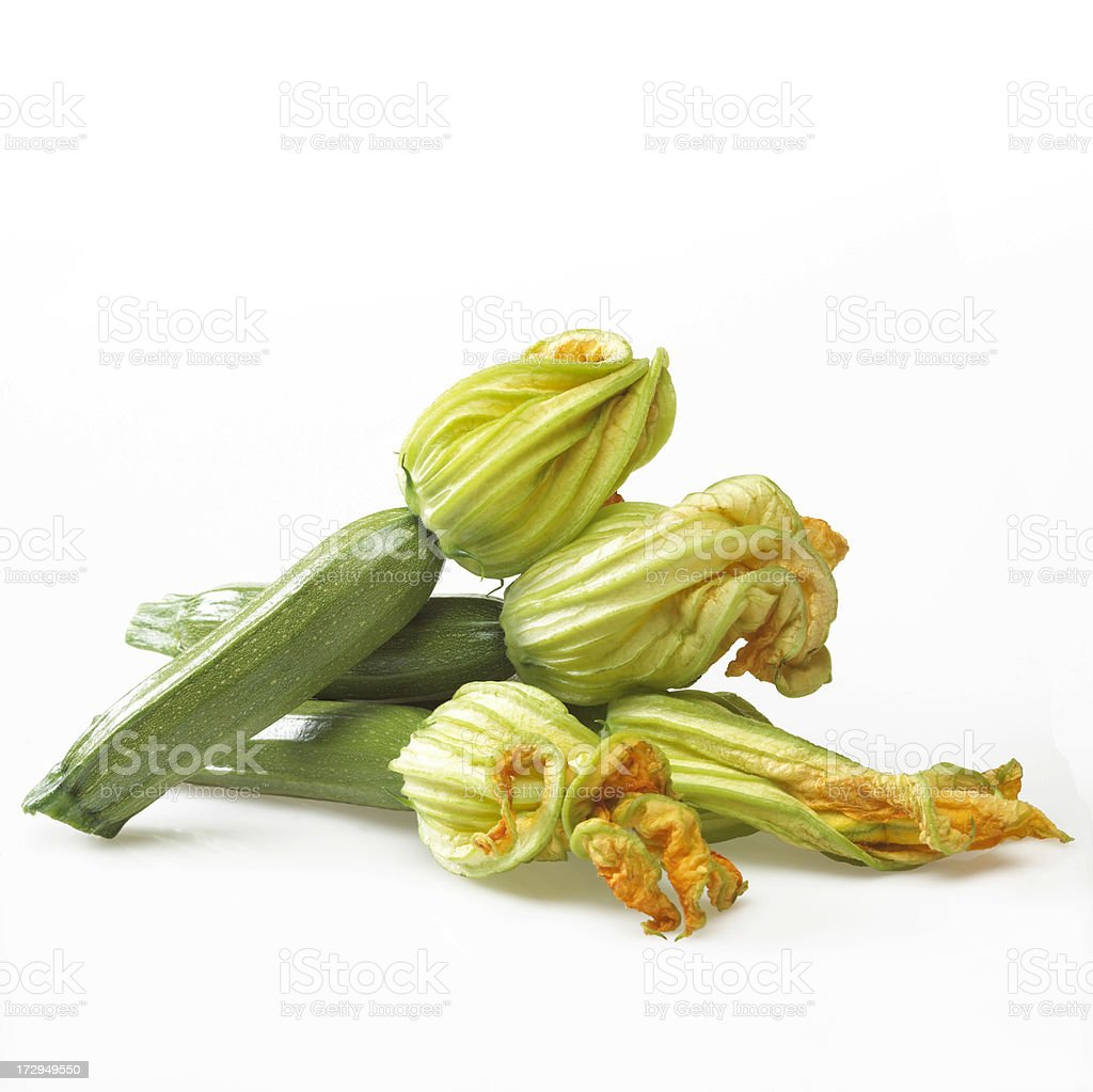 Zucchinis with flower royalty-free stock photo