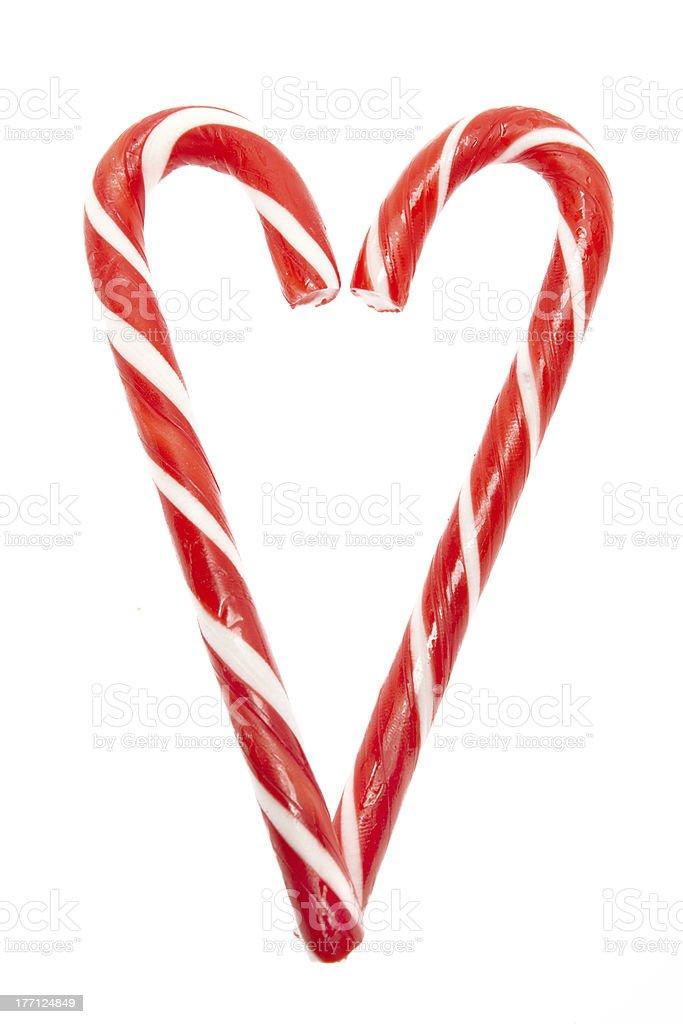 Zuckerstangen Herz stock photo