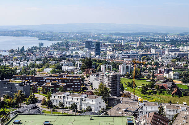 Zug City Downtown of Zug City - Switzerland. zug stock pictures, royalty-free photos & images