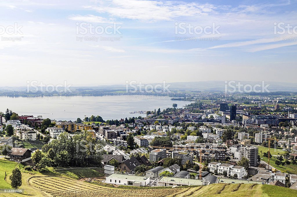 Zug City View stock photo