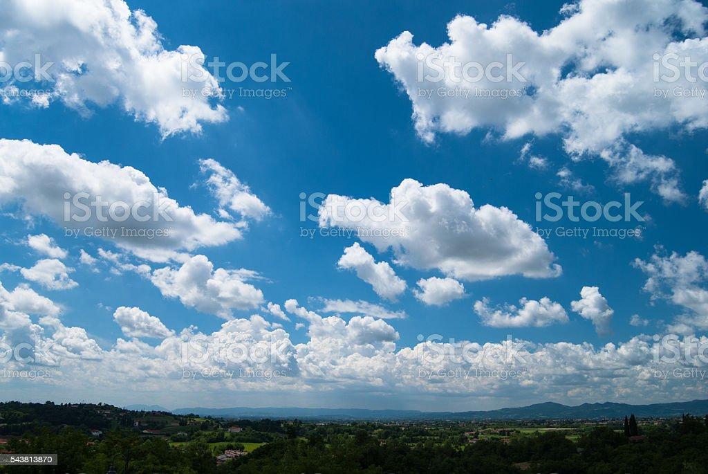 zugliano panorama cloudy sky stock photo