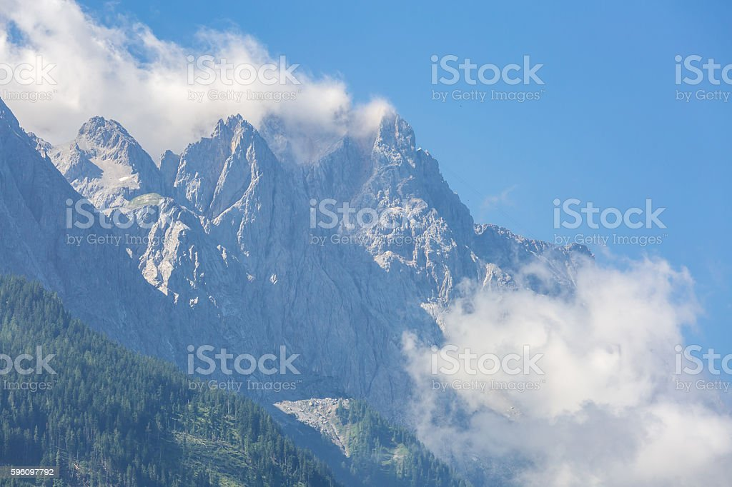 Zugspitze Alpine royalty-free stock photo