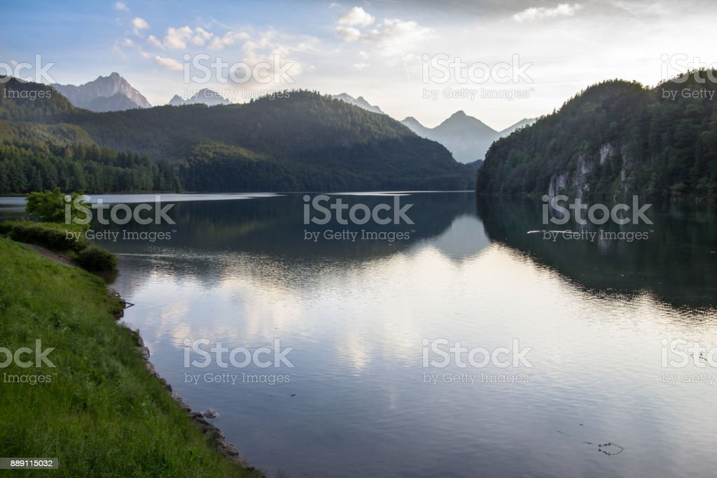 Zugspitze, Alps, Germany stock photo