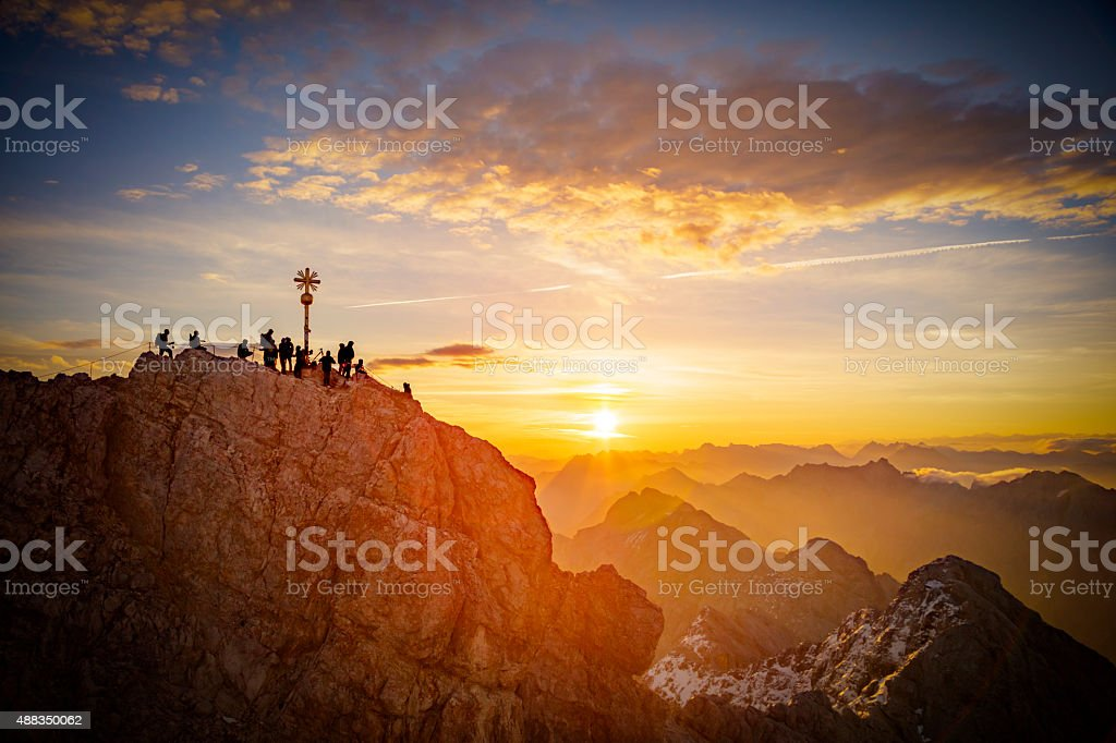Zugspitze at Dawn stock photo