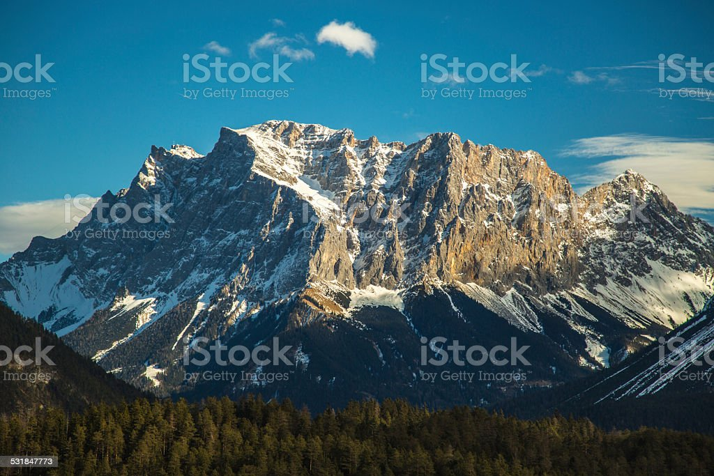 Zugspitze Berg stock photo