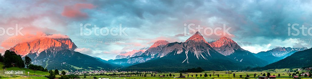 Zugspitze Ehrwald stock photo