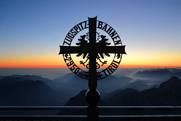 Zugspitze highest peak of Germany stock photo