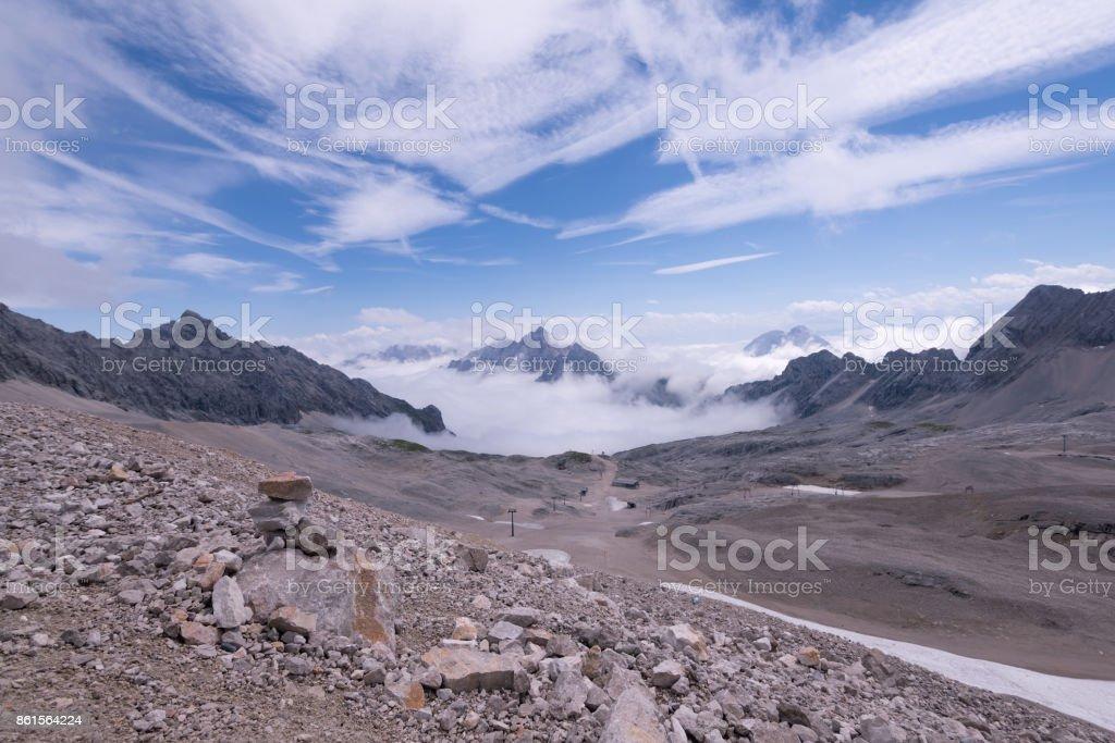 Zugspitze mountain in Bavaria, Germany stock photo