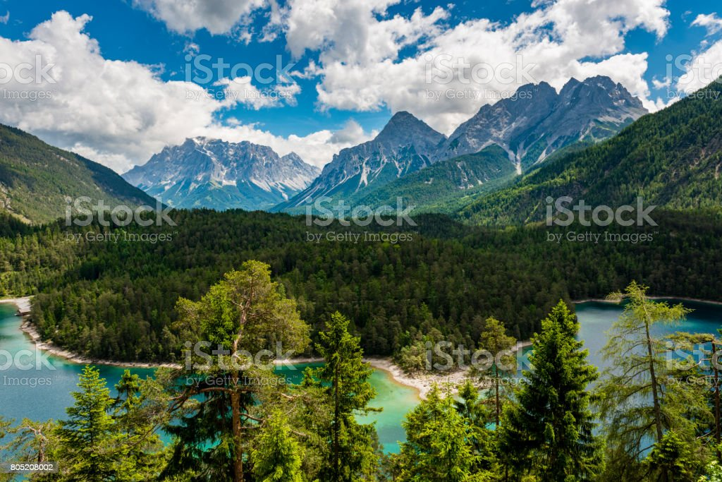 Zugspitze mountain stock photo