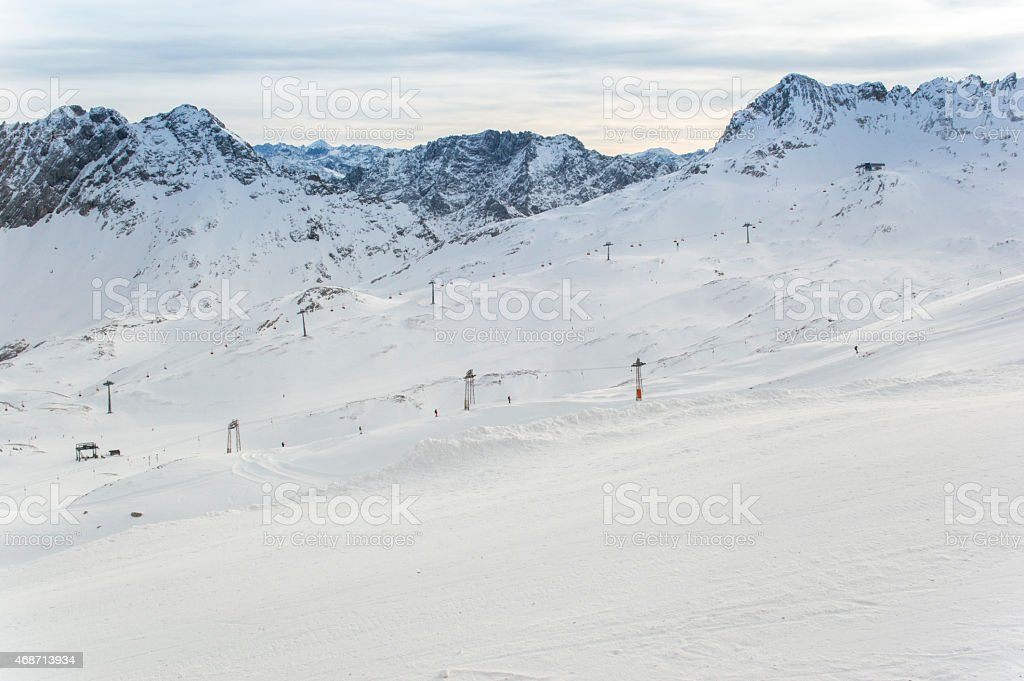 Zugspitze Ski Station stock photo