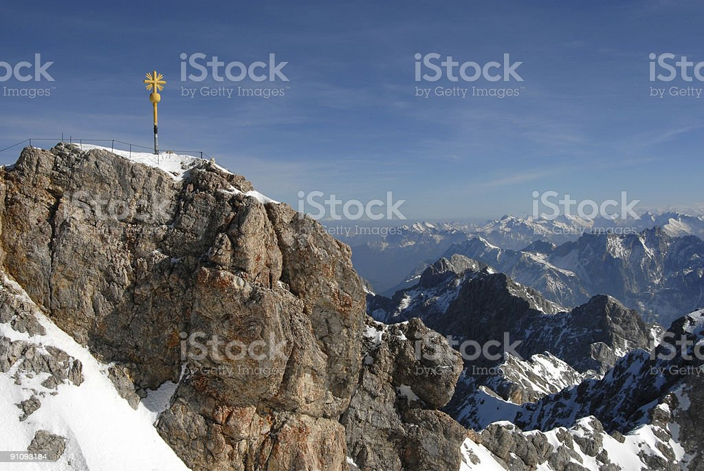 Zugspitze Summit stock photo