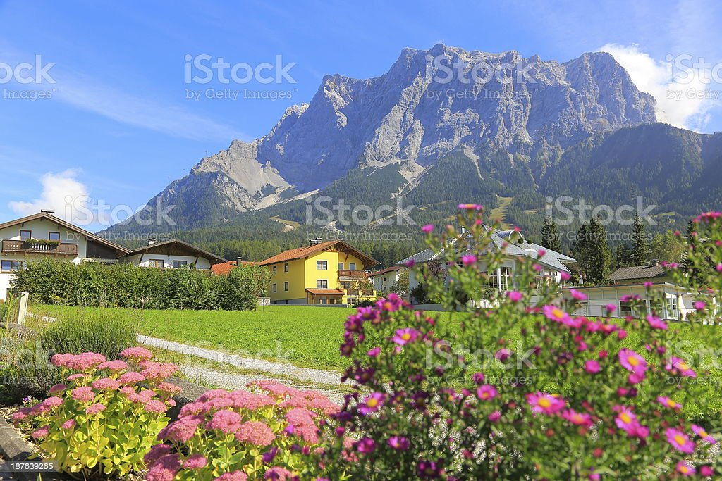 Zugspitze - view from Ehrwald stock photo