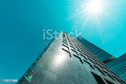 Amsterdam, Claude Debussylaan, the Netherlands, 05/13/2019, Modern office buildings in Amsterdam, zuidas, zuid, ABN AMRO Bank
