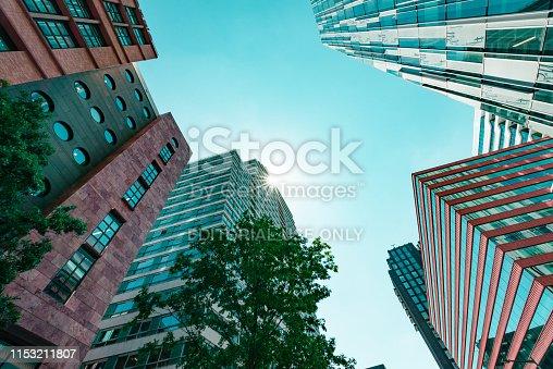 Amsterdam, Claude Debussylaan, the Netherlands, 05/29/2019, Modern office buildings in Amsterdam, zuidas, business district