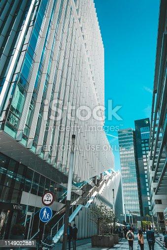 Amsterdam, Claude Debussylaan, the Netherlands, 05/13/2019, Modern office buildings in Amsterdam, zuidas, zuid