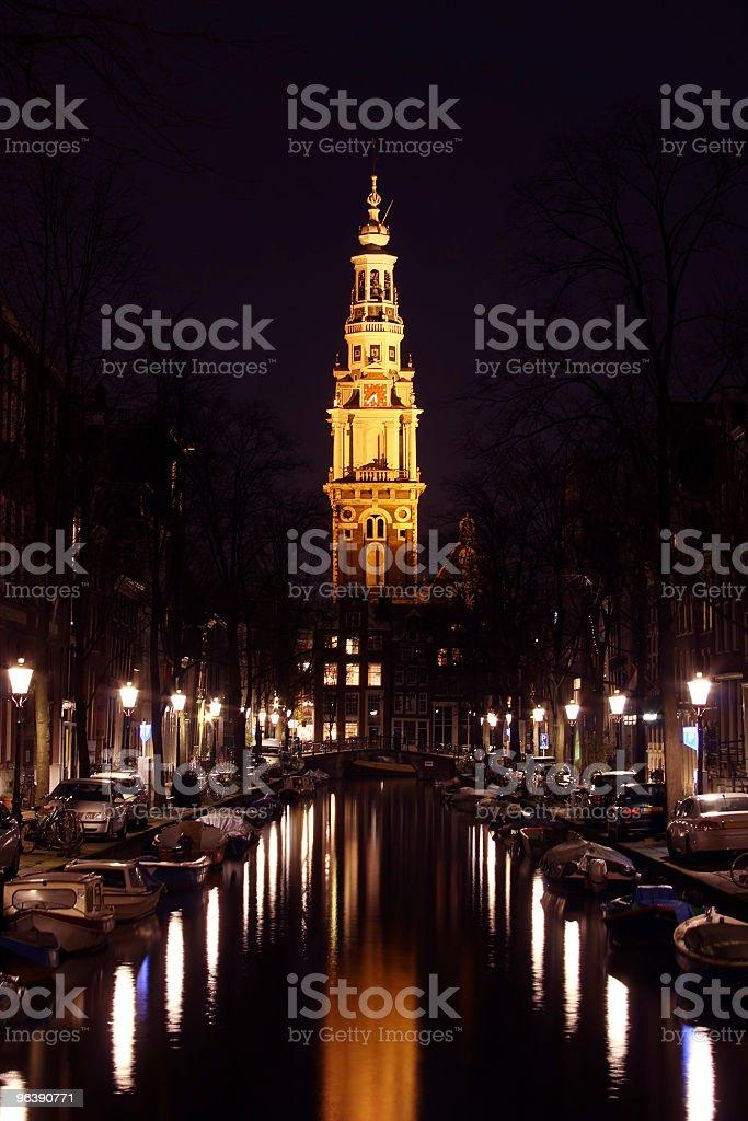 Zuiderkerk by night in Amsterdam the Netherlands - Royalty-free Amsterdam Stock Photo