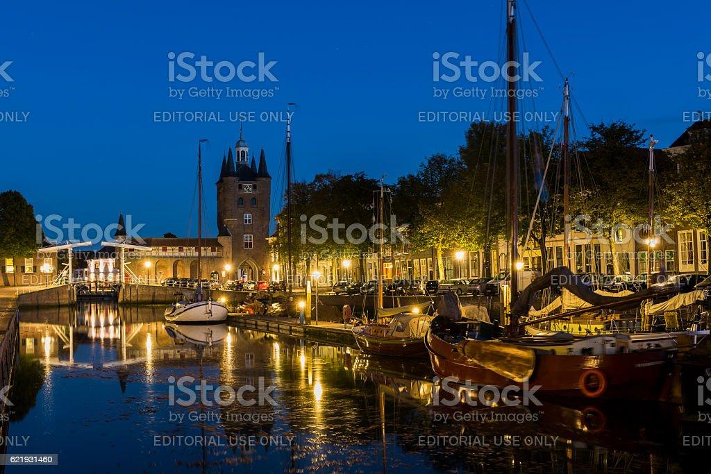 Zuidhavenpoort in Zierikzee stock photo
