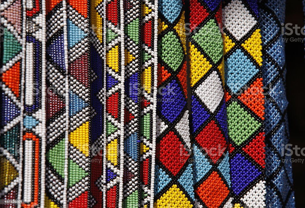 Zulu beads of South Africa stock photo