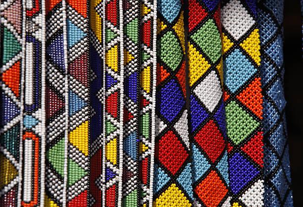 Zulu beads of South Africa stock photo