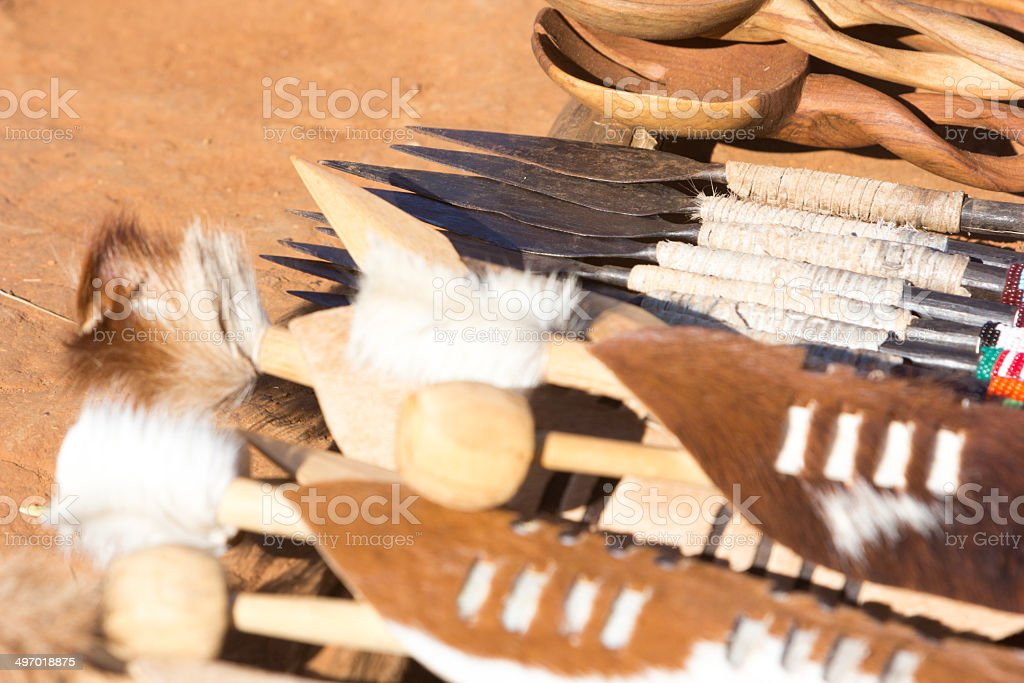 Zulu Curios in KwaZulu-Natal, South Africa royalty-free stock photo