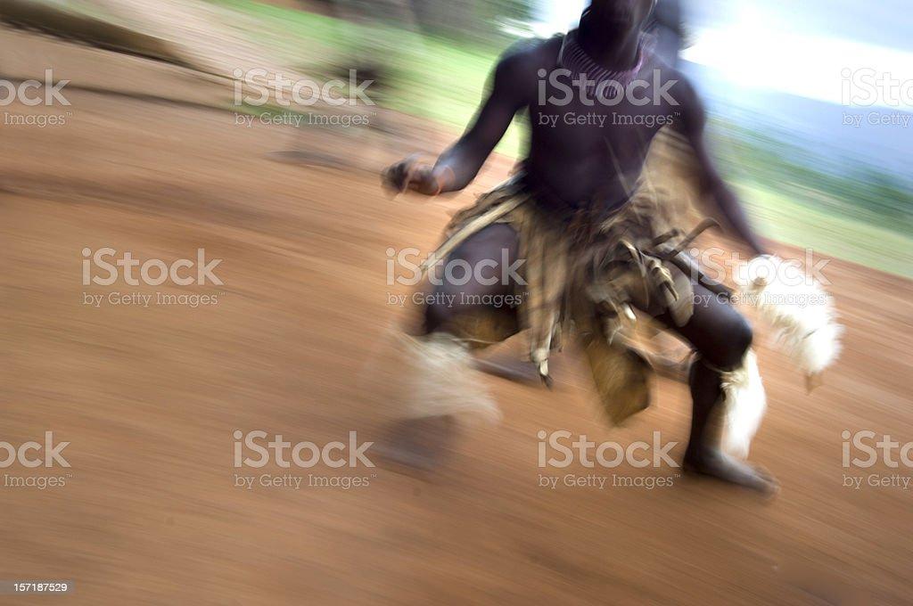 Zulu dancers stock photo