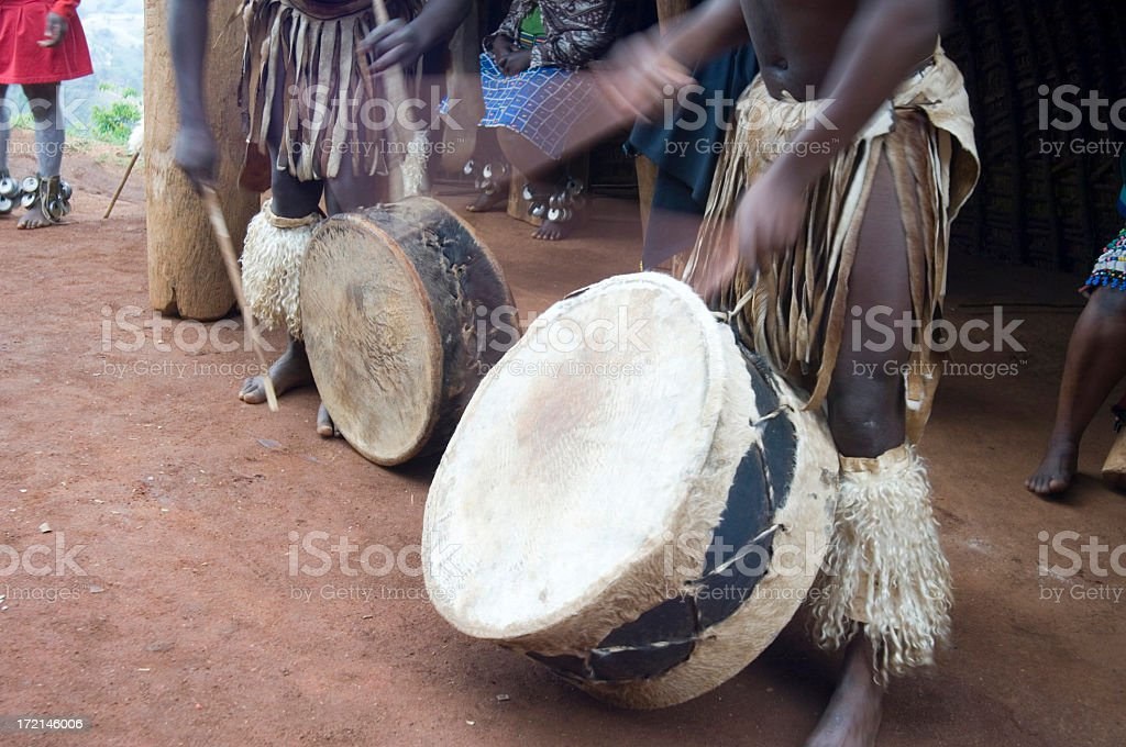 Zulu dancers royalty-free stock photo