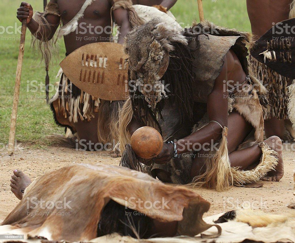 Zulu Death Ritual stock photo
