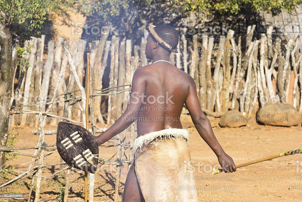 Zulu Man in KwaZulu-Natal, South Africa stock photo