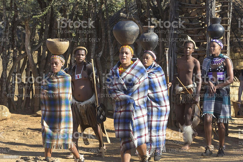 Zulu People in KwaZulu-Natal, South Africa stock photo