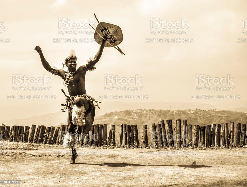 Zulu Warrior stock photo