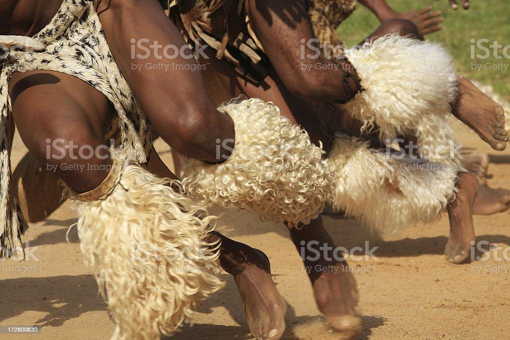 Zulu warriors dancing stock photo