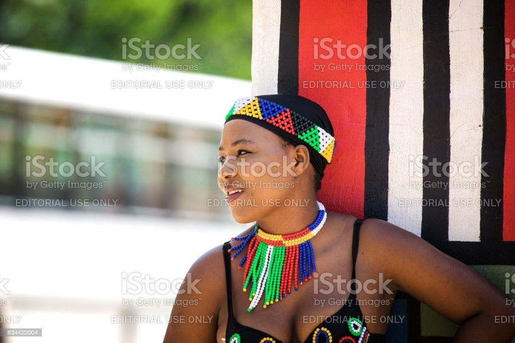 Zulu woman stock photo