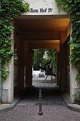 Passageway between the courtyards of the Hackeschen Höffen Berlin Germany