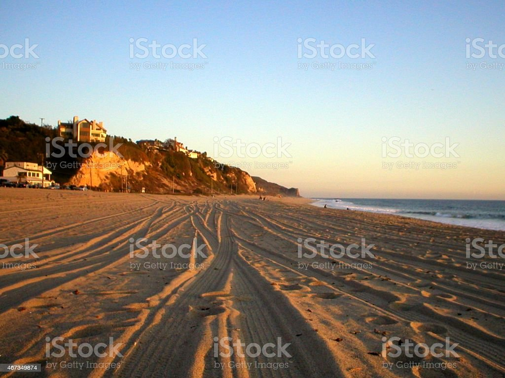 Zuma Beach, Malibu California stock photo