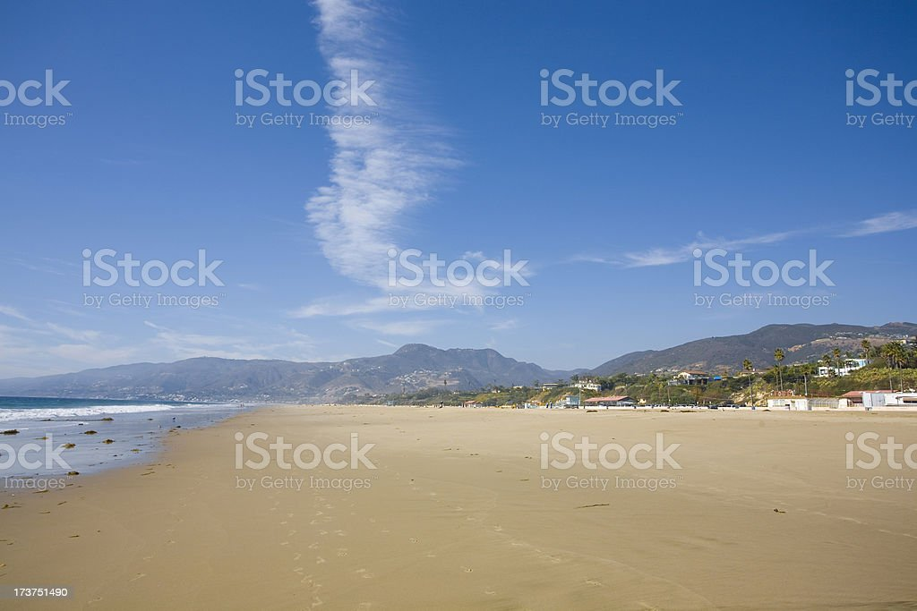 Zuma Beach on a Sunny Day Malibu California stock photo