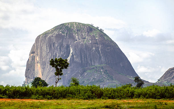 Zuma Rock - landmark of Nigeria. stock photo