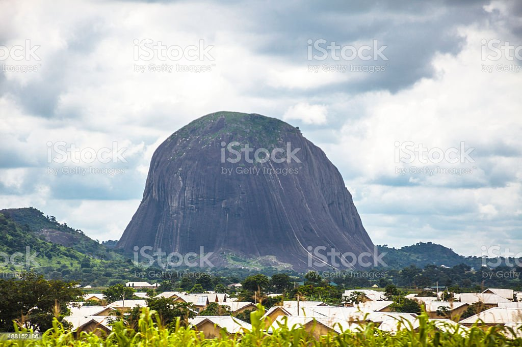 Zuma Rock, Nigeria stock photo