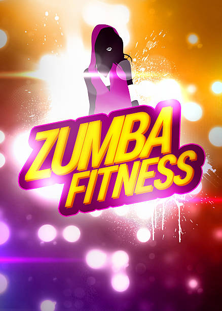 zumba fitness training background - hip hop poster bildbanksfoton och bilder