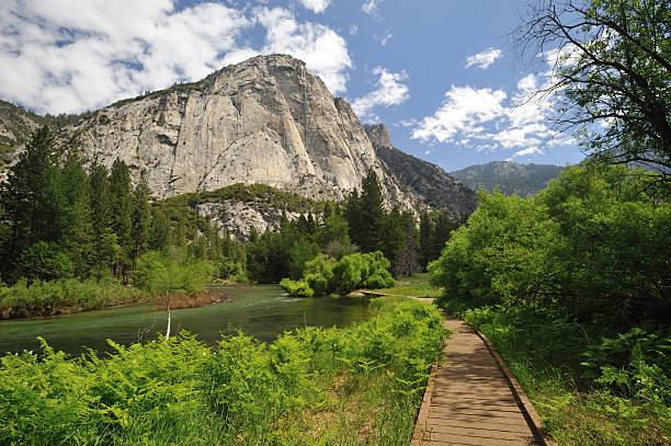 Zumwalt Meadow of Kings Canyon National Park stock photo
