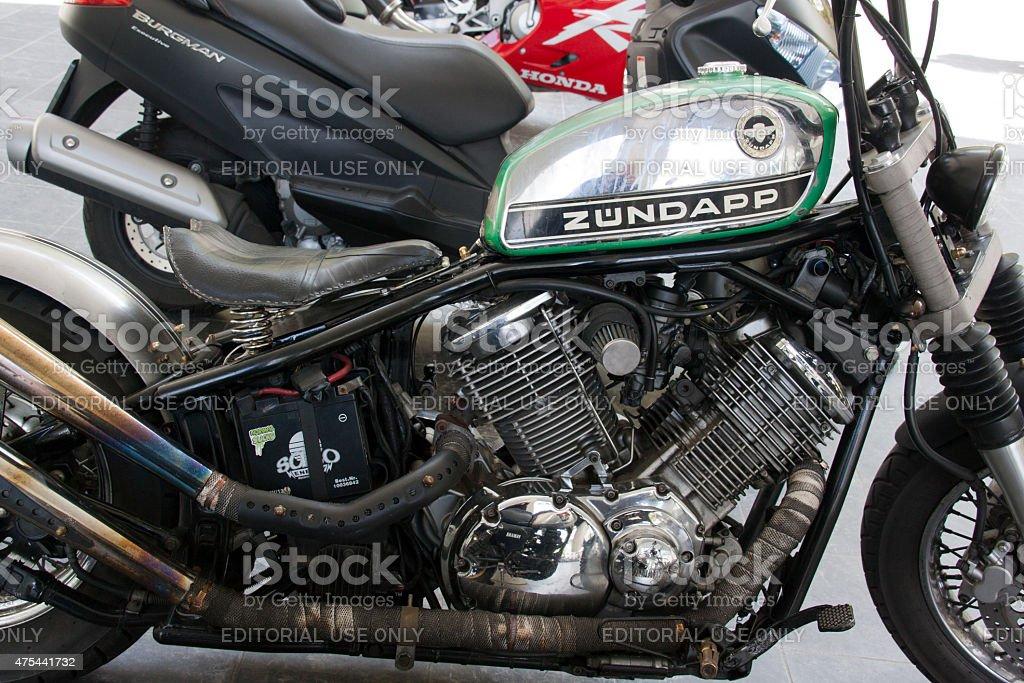 zundapp custom rat bike stock photo