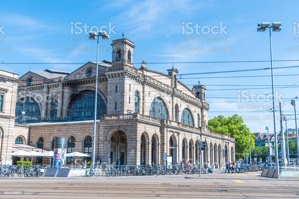 Zurich Central Train Station stock photo
