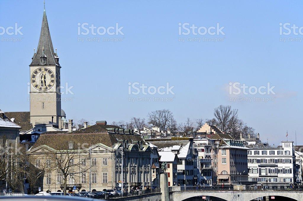 Zurich - Church royalty-free stock photo