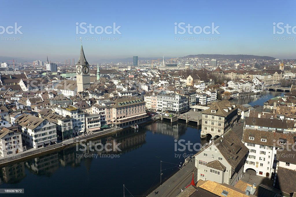 Zurich cityscape royalty-free stock photo