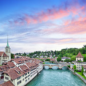 Aerial view of Zurich, Switzerland. Composite photo